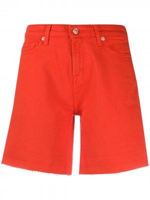Denim boy shorts 7 For All Mankind. Цвет: красный