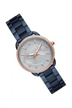 Наручные часы Fossil. Цвет: синий
