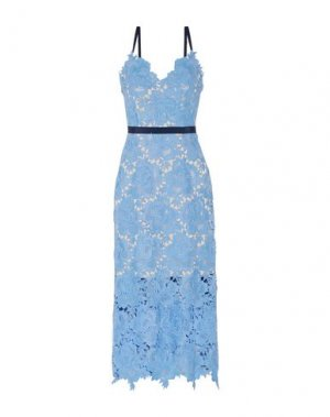 Длинное платье CATHERINE DEANE. Цвет: небесно-голубой