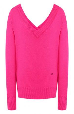 Кашемировый пуловер Victoria Beckham. Цвет: фуксия