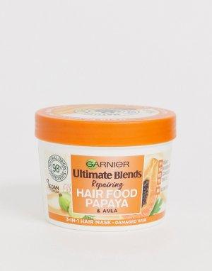 Маска для поврежденных волос 3-в-1 с экстрактом папайи Ultimate Blends Vegan Hair Food 390 мл-Бесцветный Garnier