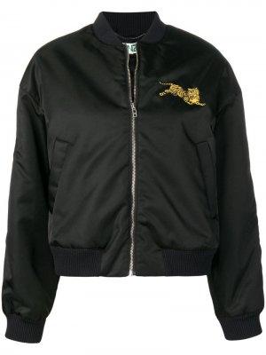 Куртка-бомбер с вышивкой Kenzo. Цвет: черный