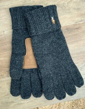 Серые перчатки с отделкой для сенсорных устройств -Серый Polo Ralph Lauren