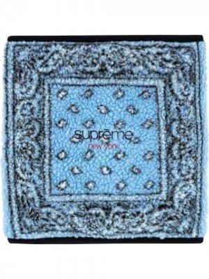 Бандана с принтом Supreme. Цвет: синий