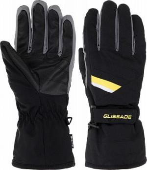 Перчатки мужские , размер 9,5 Glissade. Цвет: черный