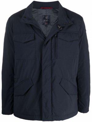 Однобортный пиджак Fay. Цвет: синий