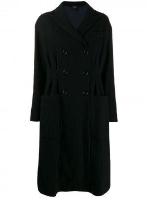 Двубортное пальто Aspesi. Цвет: синий