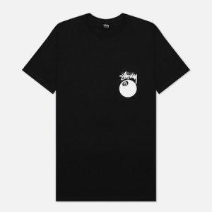 Мужская футболка 8 Ball Graphic Art Stussy. Цвет: чёрный