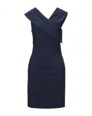 Короткое платье LIVIANA CONTI. Цвет: темно-синий