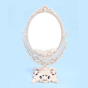 Настольное двустороннее зеркало для макияжа SHEIN. Цвет: бежевые