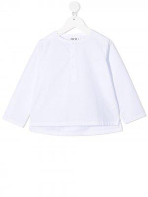 Рубашка поло с длинными рукавами Douuod Kids. Цвет: белый