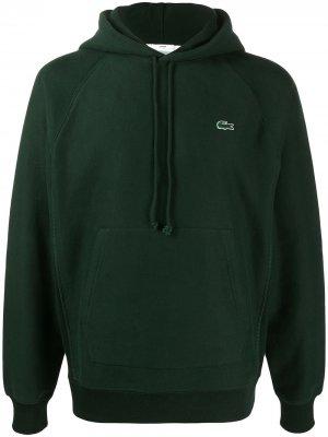 Худи с вышитым логотипом Lacoste. Цвет: зеленый