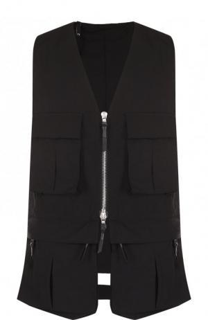 Жилет на молнии с карманами 11 by Boris Bidjan Saberi. Цвет: черный