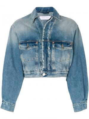 Укороченная джинсовая куртка Iro. Цвет: синий