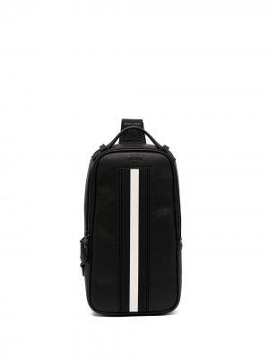 Поясная сумка с контрастной полоской Bally. Цвет: черный