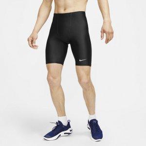 Мужские беговые тайтсы длиной 1/2 Dri-FIT Fast - Черный Nike