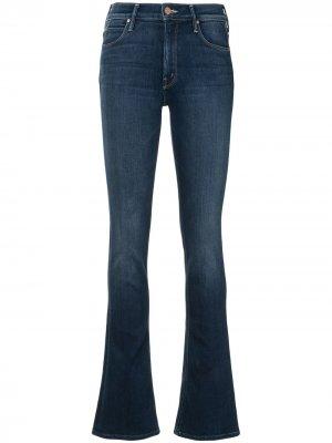 Прямые джинсы средней посадки Mother. Цвет: синий