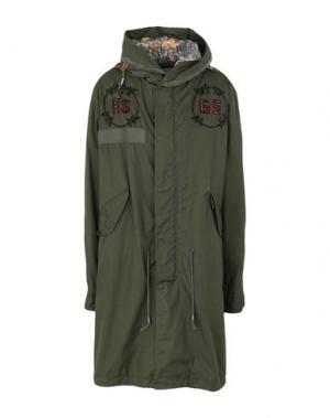 Легкое пальто AS65. Цвет: зеленый-милитари