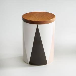Кувшин из керамики и бамбука La Redoute Interieurs. Цвет: рисунок