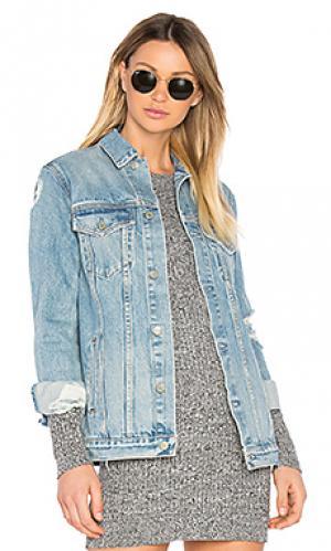 Свободная джинсовая куртка customization daria GRLFRND. Цвет: none