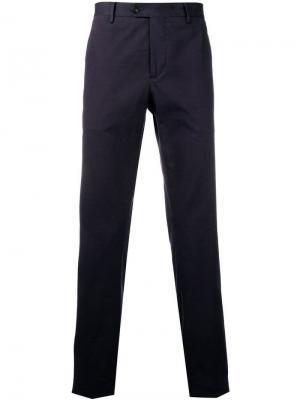 Классические брюки чинос узкого кроя Etro. Цвет: синий