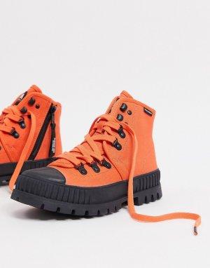Массивные туристические ботинки оранжевого цвета Pallashock-Оранжевый Palladium