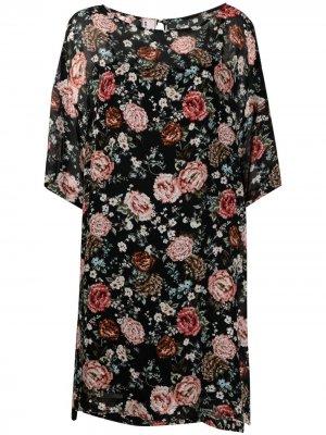 Платье Kleid с цветочным принтом Antonio Marras. Цвет: черный