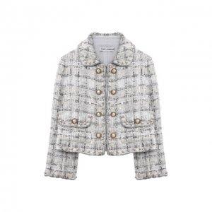 Твидовый жакет Dolce & Gabbana. Цвет: серебряный