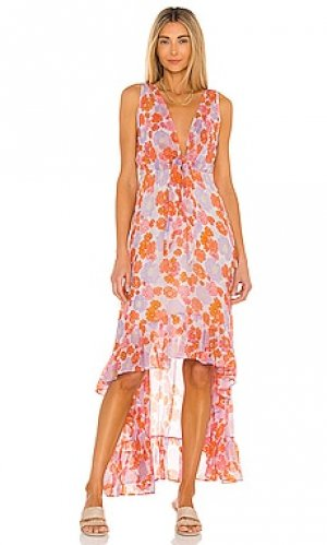 Платье с асимметричным подолом delina Sundress. Цвет: оранжевый