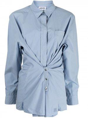 Рубашка со сборками Kenzo. Цвет: синий