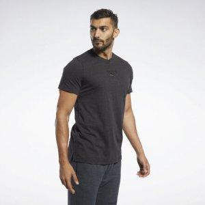 Спортивная футболка Training Essentials Reebok. Цвет: black melange