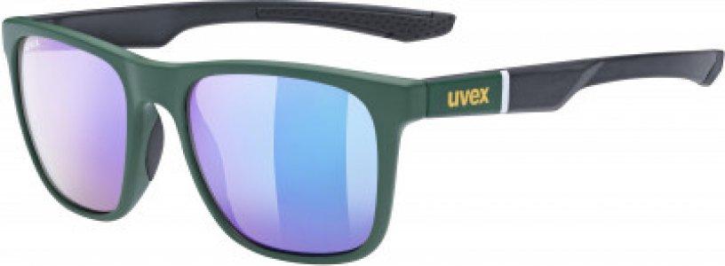 Солнцезащитные очки LGL 42 Uvex. Цвет: зеленый