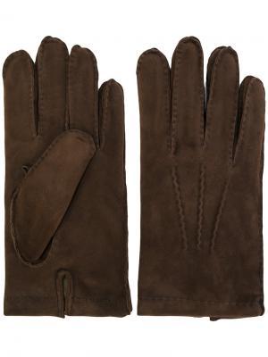 Перчатки Eleventy. Цвет: коричневый
