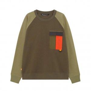 Толстовки EK+ Raeburn Pocket Crew Neck Sweatshirt (Relaxed) Timberland. Цвет: зеленый