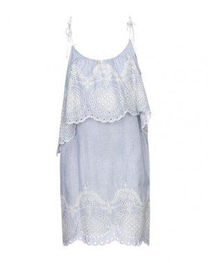 Короткое платье F**K PROJECT. Цвет: небесно-голубой