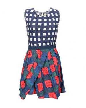 Короткое платье EGGS. Цвет: темно-синий