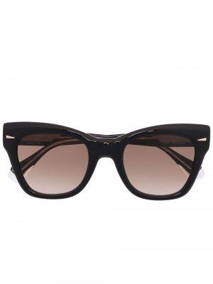 Солнцезащитные очки в оправе кошачий глаз GIGI STUDIOS. Цвет: черный