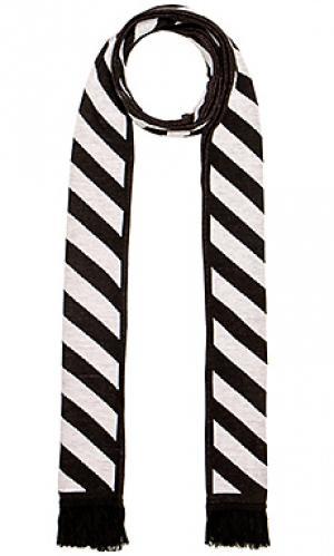 Шарф diag + arrows OFF-WHITE. Цвет: черный
