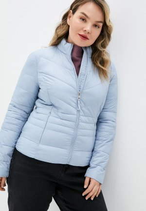 Куртка утепленная Vero Moda. Цвет: голубой