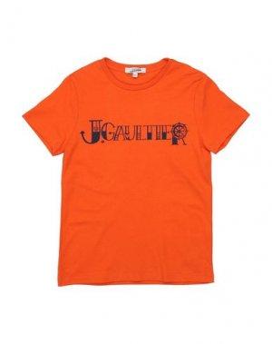 Футболка JUNIOR GAULTIER. Цвет: оранжевый