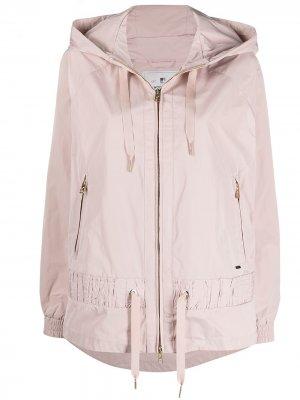 Куртка с капюшоном и кулиской Woolrich. Цвет: розовый