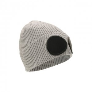 Хлопковая шапка C.P. Company. Цвет: серый