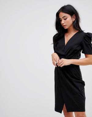 Трикотажное платье BA&SH. Цвет: черный