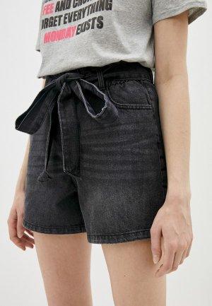 Шорты джинсовые Sublevel. Цвет: черный