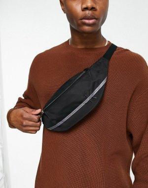Черная сумка-кошелек на пояс Essential-Черный цвет Calvin Klein Jeans