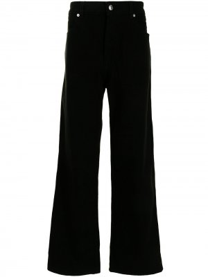 Широкие джинсы с завышенной талией Eckhaus Latta. Цвет: черный