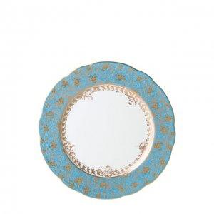 Тарелка салатная Eden Turquoise Bernardaud. Цвет: синий