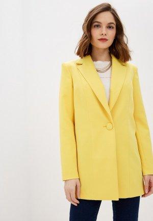 Пиджак Модный дом Виктории Тишиной. Цвет: желтый