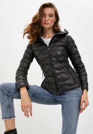 Куртка кожаная Blouson MARY. Цвет: серый