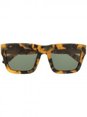 Солнцезащитные очки в квадратной оправе Karen Walker. Цвет: коричневый